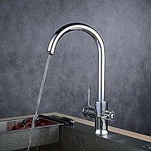 3-Wege-Wasserhahn Negro Chrom für heißes und