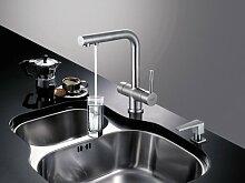 3-Wege-Wasserhahn ZARA INOX, Edelstahl Massiv für AMWAY eSpring Wasserfilter geeignet !