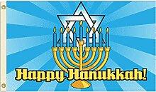 3x 5Happy Hanukkah Flagge jüdischen Urlaub
