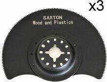 3x 88mm Saxton segmentiert Holz Klingen fein