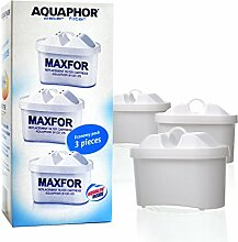 3 x Aquahor Wasserfilter Wechselkartusche ersetzt Brita® Dafi®, Laica®. Neue Generation der Filterkartuschen – Kannenfilter Aquaphor mit AQUALEN® Filtertechnologie Filter Hochleistungs-Wasserfilter (MAXFOR - B100-25)