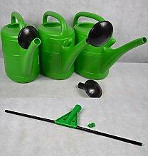 3 x Gießkanne + 1 x Breitgießaufsatz 10 Liter