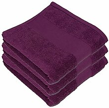 3 x Handtuch Set 50 x 100 cm Bad Badezimmer