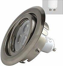3 x LED Einbaustrahler 5 Watt 400 Lumen GU10