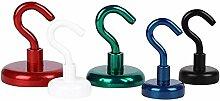 3 x Magnethaken farbig Magnet mit Haken - Ø 20 mm