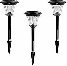 3 x Maximus LED Solar Wegeleuchte +