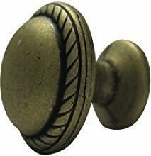 3 x Möbelknopf Möbelgriff Möbelgriffe Möbelknöpfe Griff Knopf Bronze brünier