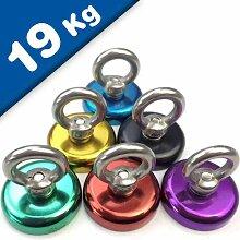 3 x Ösenmagnet farbig Magnet mit Öse - Ø 25 mm