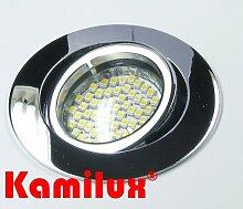 3 x SMD LED Einbaustrahler Bajo 230V chrom + 60er