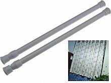 30-50cm Klemmstange Gardinenstange Klemmfix
