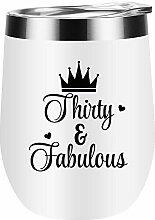 30 and Fabulous Wine Tumbler 30. Geburtstag
