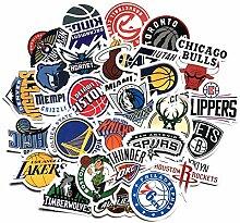 30 Blatt/Paket Basketball Aufkleber Gepäck