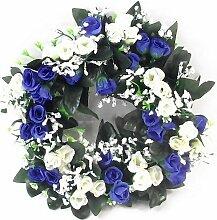 30cm Künstliche Blau & elfenbeinfarben & Cream