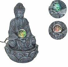 30 cm LED Zimmerbrunnen Brunnen m. Buddha Figur