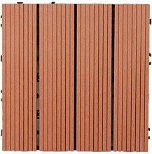 30 cm x 30 cm Holz- Kunststoff-Verbundwerkstoffe,
