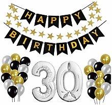 30 Geburtstag Dekoration Set, Deko Geburtstag,