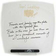 30. Jahrestag Geschenkidee Hochzeit Signatur Platte (SQ)