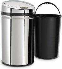 30 L Bewegungsmelder Mülleimer aus Edelstahl