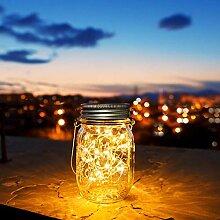 30 LED Solarlampen für Außen,Solarglas