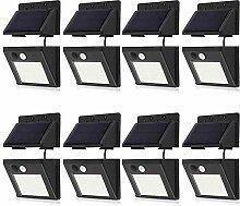 30 LEDs, kabellos, Bewegungsmelder, Solarleuchten,