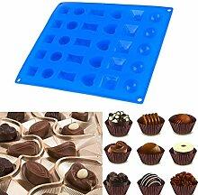 30 Löcher Multi Pattern Silikonform Kuchen Backen