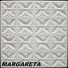 30 m2 Deckenplatten Styroporplatten Stuck Decke Dekor Platten 50x50cm, MARGARETA