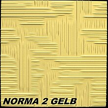 30 m2 Deckenplatten Styroporplatten Stuck Dekor Platten 50x50cm, NORMA 2 GELB
