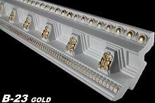 30 Meter Dekorleisten Stuckprofile Dekoration Innen 70x71mm, B-23 GOLD