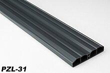 30 Meter PVC Zaunlatten Kunststoff Profile Bretter Gartenzaun 80x16mm, PZL-31