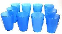 30 Plastik Trinkbecher 0,4 l - blau - Mehrwegtrinkbecher / Partybecher / Becher