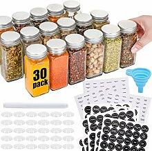 30 Stück Gewürzgläser aus Glas mit 810
