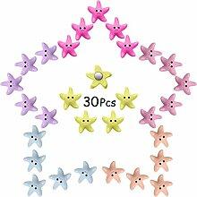 30 Stück Kühlschrankmagnete Seestern Magnete