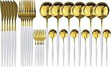 30 stücke Gold Geschirr Set 18/10 Edelstahl