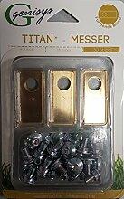 30 Titan Ersatz-Messer Klingen & 30 Schrauben für