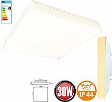 30 Watt LED Panel Aufputz Oberputz Wandlampe Wandleuchte Deckenleuchte Deckenlampe Lampe -Eckig Quadrat 330x330mm 3000K Warmweiß