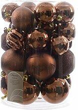 30 Weihnachstkugeln Christbaumkugeln Mix trüffel