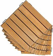 30 x 30 cm Bodenfliese Tavon aus Holz ClearAmbient