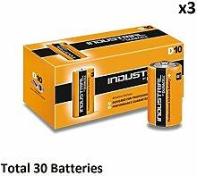 30 x D Duracell Industrial MN1300 LR20 Mono