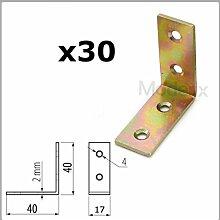 30x starkem Stahl Winkel Halterung Bar 40x 40mm/Ecke/L Form/Korsett/Box