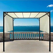 300 cm x 300 cm Pavillon Arkell aus Stahl