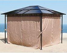 300 cm x 300 cm Pavillon Edgardo aus Kunststoff