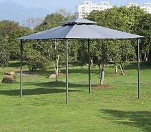 300 cm x 300 cm Pavillon Marquita aus Metall