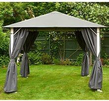 300 cm x 300 cm Pop-Up Pavillon aus Stahl Garten
