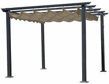 300 cm x 400 cm Pavillon Bohy aus Metall