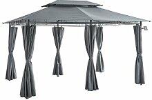 300 cm x 400 cm Pavillon Gabriola aus Metall