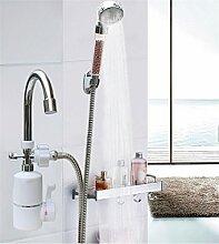 3000W Instant Tankless Elektrische Warmwasser-Heizung Wasserhahn KüChe Badezimmer Sofortige Heizung Hahn Mit Dusche Kopf , 57CM-9W