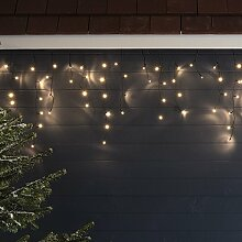 300er LED Eiszapfen Lichterkette warmweiß 7,1m