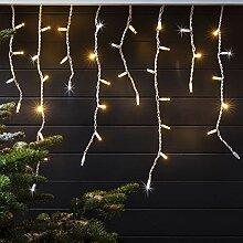 300er LED Eiszapfen Lichterkette warmweiß mit
