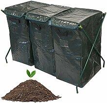 300L Garten Kompost Mülleimer Umweltfreundlich Bio Kompost Boden Aufbewahrung recyclebaren Abfall Konverter Tasche Kleingarten