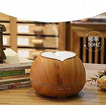 300ML Bunt Nachtlicht Luftbefeuchter Aromatherapie Luftbefeuchter Ultraschall Luft Diffusor Cool Zerstäuber  Yoga, Schlafzimmer, Wohnzimmer - Holzmaserung , Light wood grain